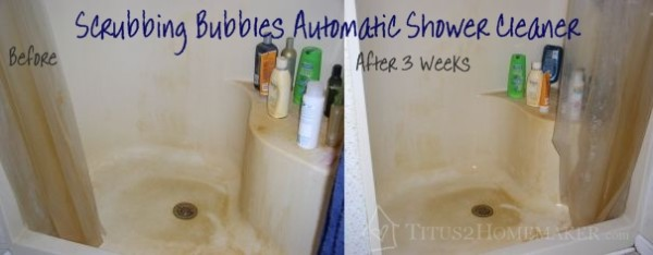 scrubbing bubbles automatic shower cleaner experiment stage 1 before u0026 after t2hmkr