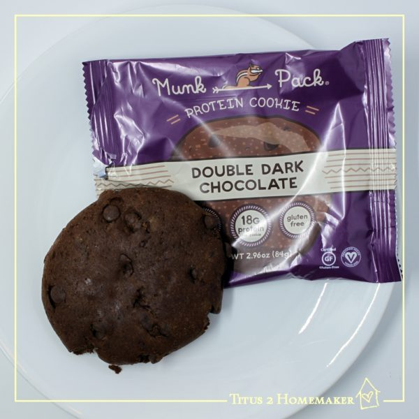 Munk Pack cookies -- review at Titus 2 Homemaker