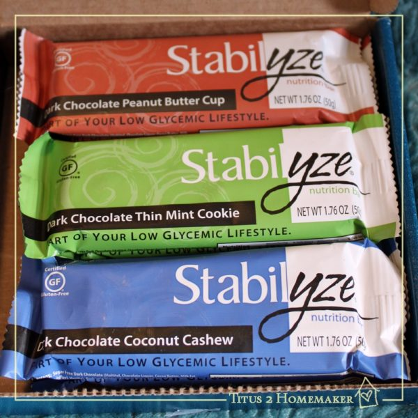 Stabilyze protein bars -- review at Titus 2 Homemaker