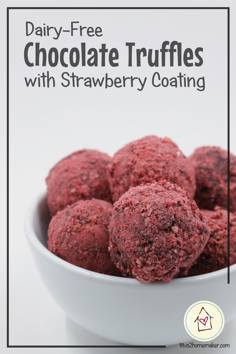 Dairy-Free Chocolate Truffles with Strawberry Coating (red)
