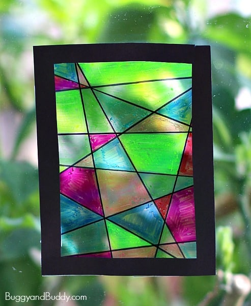 Buggy and Buddy - Faux Stained Glass