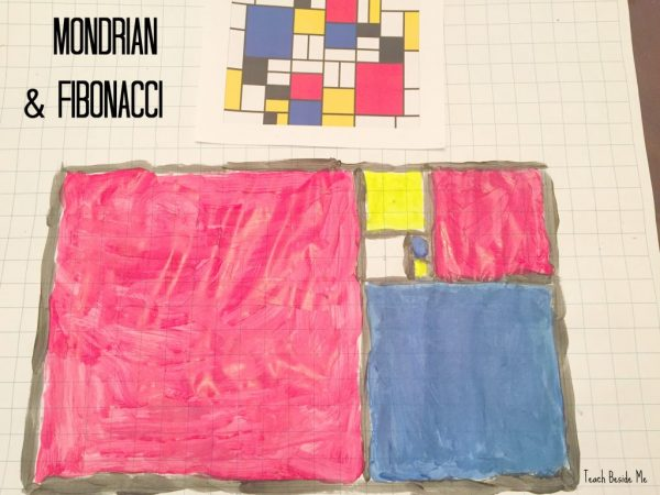 Teach Beside Me - Mondrian-Style Fibonacci Art